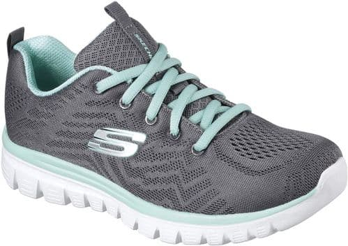 Skechers Graceful Get Connected Ladies Sports Charcoal
